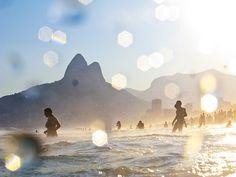 Rio de Janeiro - Ipanema - Brazil  #mountains   #Beach   #Swimming