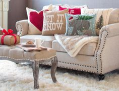 Home for the Holidays - Festive Rugs, Pillows & Decor