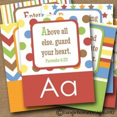Printable Scripture Cards:  KL Designs Boutique