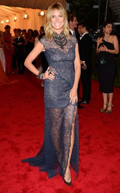 Heidi Klum at the Met Gala 2012