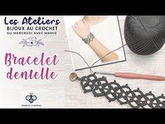 Comment faire un bracelet bohème en dentelle au crochet , tuto pas à pas - YouTube