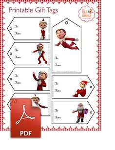 Elf on the Shelf > North Pole > Christmas Tree > Santa's Gift Tags > An Elf's Story Printable Gift Tags