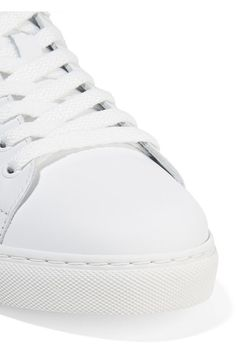 Sophia Webster - Bibi Butterfly Embroidered Leather Sneakers - White