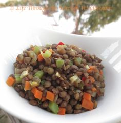 Braised Lentils   © Life Through the Kitchen Window.com Lentils, Dog Food Recipes, Window, Kitchen, Life, Cooking, Lenses, Windows, Kitchens