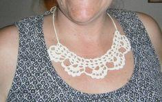 Scallop Necklace, Handmade Crochet