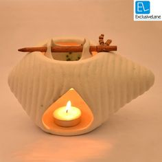 ExclusiveLane Ceramic Oil Burner White on Etsy, £19.62
