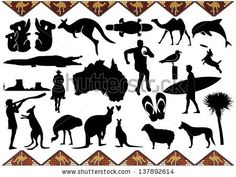 Australia icons - stock vector
