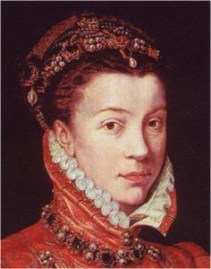 El peinado en las mujeres del siglo XVI  ¡¡Viva la Moda!!...H. 1560. Isabel de Valois, Antonio Moro, colección privada (detalle)...