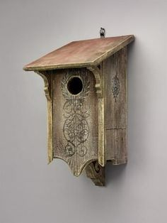 Victorian Owl Home hosts saw-whet and screech owls. Complete with drainage, heat vents, and copper fittings, crafted with elegant style from sturdy barn wood