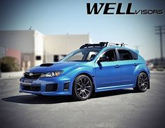 WellVisors Premium Series Side Rain Guard Window Visors Deflectors For 08-14 Subaru Impreza WRX 5Dr Wagon 2008 2009 2010 2011 2014 2013 2014 08 09 10 11 12 13 14