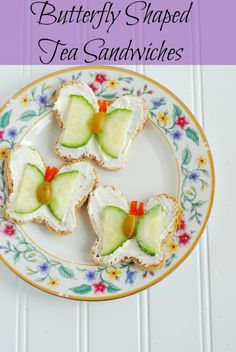 How cute are these Butterfly Shaped Tea Sandwiches?! Perfect for a little girl's birthday party.