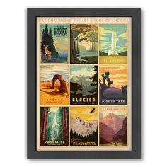 Americanflat National Park Multi 1 by Anderson Design Group Framed Vintage…