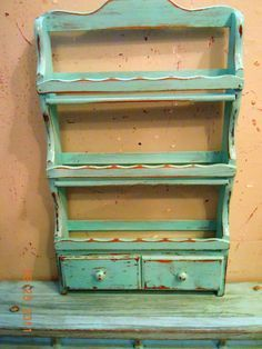vintage spice rack to hang in the bathroom to organize/display nail polish collection! Upcycled Spice Rack, Spice Rack Rustic, Spice Rack Paint, Painted Furniture, Diy Furniture, Old Spice, Spice Jars, Upcycled Vintage, Old Wood