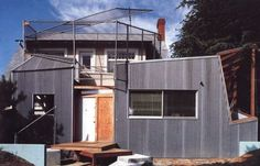 Gehry Residence / Frank Gehry Collage/Form.  Low tech materials added to existing house as additions.
