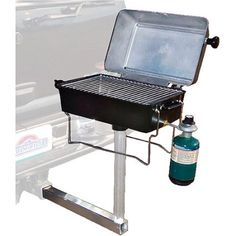Springfield Portable Propane Gas Grill With Trailer Hitch Mount in - The Home Depot Truck Camping, Camping Stove, Camping Hacks, Camping Gear, Minivan Camping, Family Camping, Camping Table, Camping Cabins, Family Trips