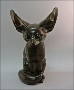 #Bronze statue in the #ArtDeco style representing a #fennec. Beautiful…