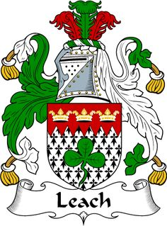Leach Clan Coat of Arms