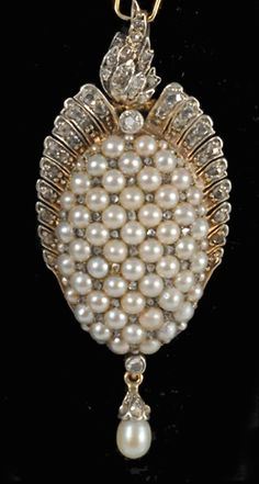 Victorian pearl pendant - John Joseph Antique Jewellry