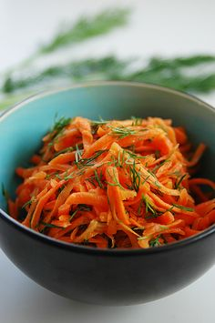Carrot-dill salad... the simple pleasures of life, vibrant and satisfying.