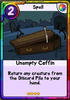 Adventure Time Card Wars - Unempty Coffin Spell Card