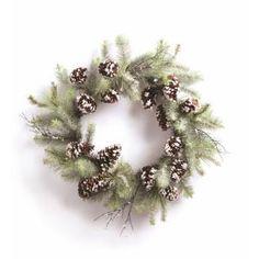 Wonderland Pine and Cone Wreath by Wayfair