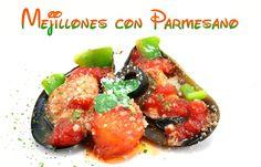 Unos aperitivos saludables y originales: mejillones con parmesano. Recetas originales y sanas.