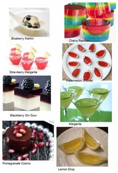 Artistic mixed drinks