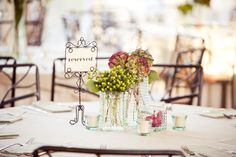simple wedding table decor