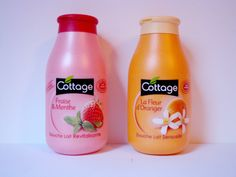 COTTAGE REVIEW : shower gel - Douche Lait Revitalisante Fraise & Menthe - Douche Lait Sensuelle Fleur d'Oranger