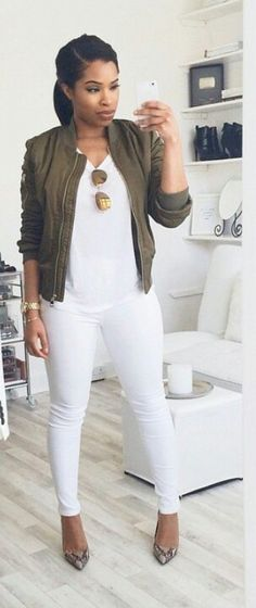 Cute outfit, would do different heels