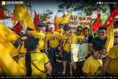 Busca a Dios,Marchando para Jesús  En la Marcha para Jesús  En Santa Cruz- Bolivia