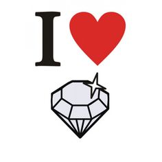 I LOVE DIAMONDS CARD. - STATIONARY