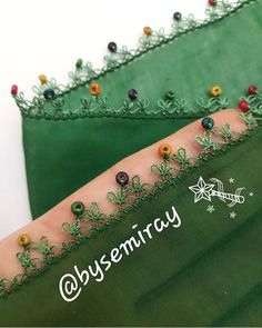 Top 41 Green Red Needle Lace ModelsYou can find Lace and more on our website. Embroidery Hoop Decor, Hand Embroidery Stitches, Crewel Embroidery, Beaded Embroidery, Crochet Stitches, Embroidery Designs, Baby Knitting Patterns, Crochet Patterns, Crazy Quilt Stitches