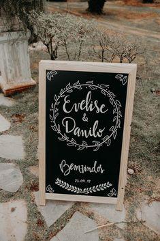 Plaquinhas com nome para casamento - Casamento no campopla