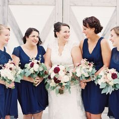 Make This Look!   Flowers By: Kelsie ♦ Bannister, MI Photos By: Emily Jane Photography     This neutral color palette with a pop of rich burgundy color is perfect for a barn wedding. So put on your boots and let's get this party started!