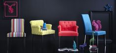 Home spirit chairs in the styles Charly and Clementine from Le Patio.