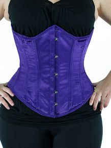 6355c2228e CS 345 Underbust Corset in Purple Satin Purple Satin