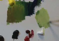 How To Mix Green Paint - Video Lessons of Drawing & Painting