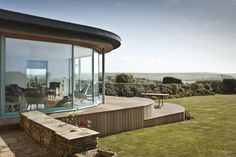 Extension, Thurlestone – Living Space Architects: Award-winning RIBA Architects based in Exeter, Devon Exeter Devon, Glass Facades, Maine House, Sunroom, Extensions, Minimalism, Living Spaces, Exterior
