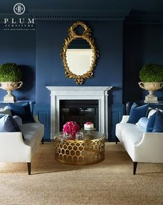 Stunning Navy Blue Living Room with Best 25 Navy Living Rooms Ideas On Home Decor Navy Blue Living Blue And Gold Living Room, Navy Blue Living Room, Blue Rooms, White Rooms, New Living Room, Living Room Decor, Living Room Carpet, Cozy Living, Simple Living
