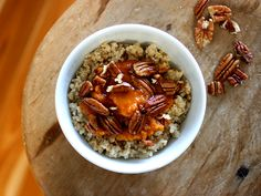 Steel Cut Oats with Maple Pumpkin and Pecans
