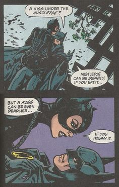 Catwoman, Batman get in the festive mood