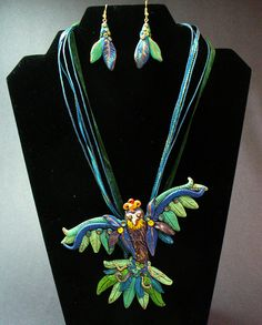 Polymer Clay Necklace earring set.