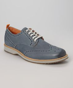 This Denim Elliot Leather Oxford by Tommy Bahama is perfect! #zulilyfinds