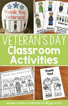 Veteran's Day Activities {Freebie Included!} | Your Kindergarten classroom or homeschool students are going to love this Veterans Day download for November or appreciating our military at ANY time of year. You get posters, a crown, thank you card template, writing activity, partner game, and various no prep printables for math and ELA. Plus 100% of the proceeds go to the USO. And you get a FREE roll and color worksheet! Grab your freebie now!