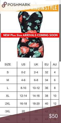 Retro Floral Romper Swimsuit Plus Size One Piece Halter has cups and if smaller up too add to the best - if larger provides great support true to the size chart sizes with a bit of wiggle room - ruched belly and slimming Swim One Pieces
