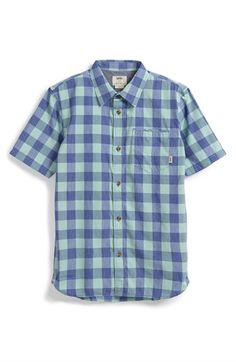 b1acb858e49 Cat   Jack Size 4-5 Boys Plaid Short Sleeve Shirt