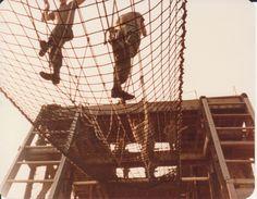 Rope bridge from below.