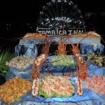 The fabulous seafood station setup at the New Year's Gala at the Inn