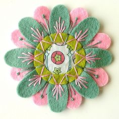 felt flower brooch  via Flickr